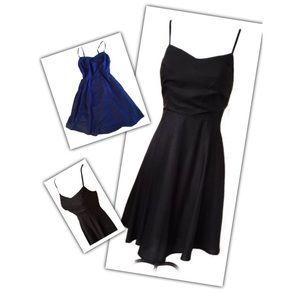 Cobalt Blue Fit-n-Flare Spaghetti Strap Sun Dress